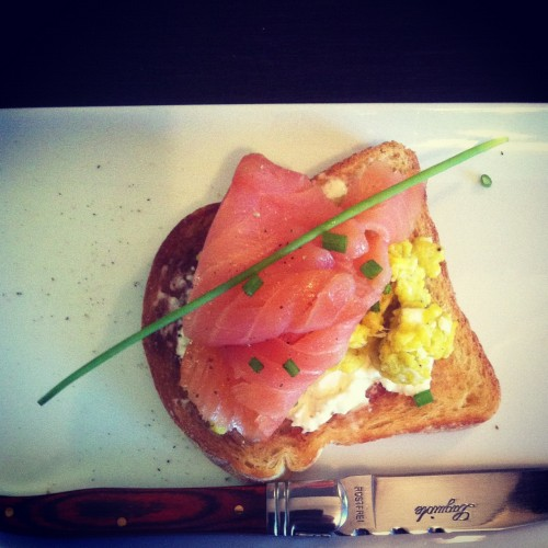Smoked Salmon and Scrumble eggs