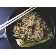 bok choy stir fry noodles
